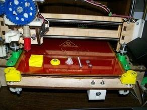 Easily Adjustable Printrbot Glass Clips