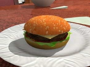 A nice juicy hamburger! (plastic model only)