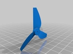 Drela AG27 Airfoil Micro Drone Propeller (34.68g thrust @ 3V)