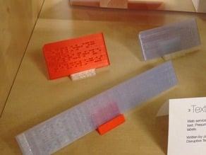braille plaque generator