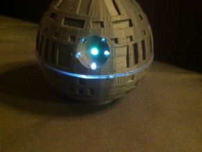 Death Star with top hollowed out to allow lights to be installed