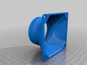 Fan Adaptor 80mm Fan - 55 OD PVC Pipe