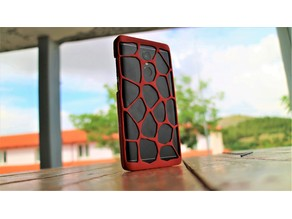 Phone case voronoi (3d printed)