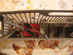 Dishwasher silverware rack repair