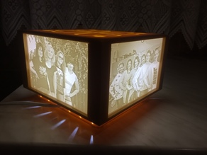 Lithophane lamp