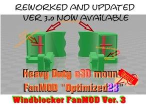"""Heavy Duty e3D mount - FanMOD """"Optimized23"""" *UPDATET*"""