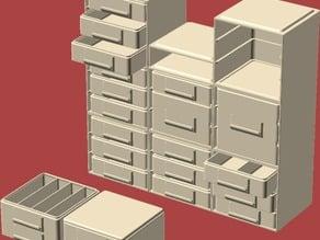 Stacking/Sliding Drawer Boxes