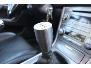 Subaru 5 speed Shift Knob w/ shift boot holder