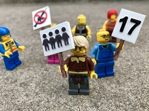 March for Our Lives Signs - MiniFig Compatible