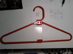 Parametric coat hanger with pins