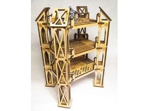 Level 3 medium octagonal building for 3mm laser cut MDF
