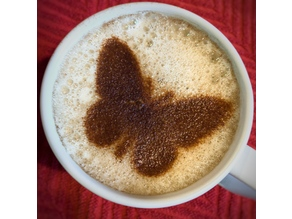 Coffee Stencil - Butterfly - NEW Style