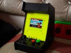 Theletech Arcade Cabinet for GBA SP main and screen with 36mm speaker