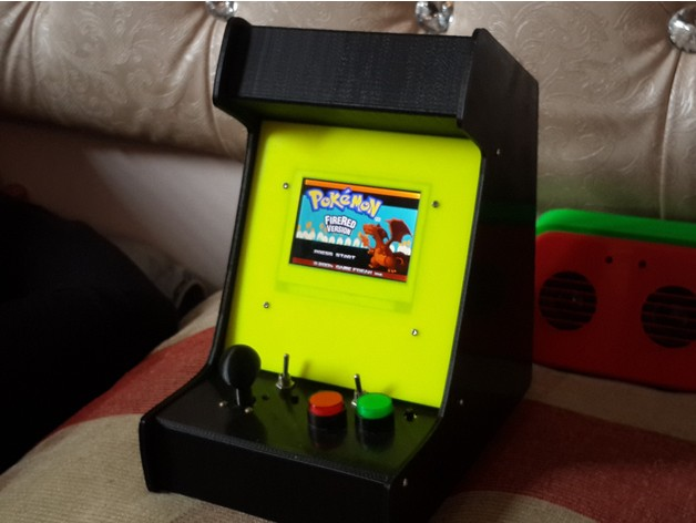 Theletech Arcade Cabinet for GBA SP main and screen with 36mm ...
