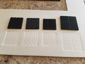 Tiled texture stamps for foam.
