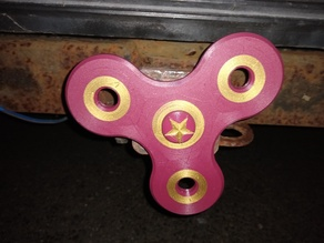 two color 2 inch trailer hitch cover fidget spinner