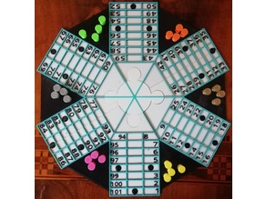 Ludo - Parchis game Table Pawns and Dice