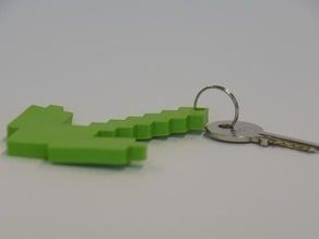 Minecraft Pickaxe - Keychain