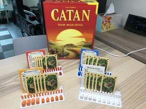 Catan Piece and Cards Holder
