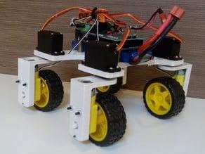 4Wheel rover with 180 degree freedom wheel rotation