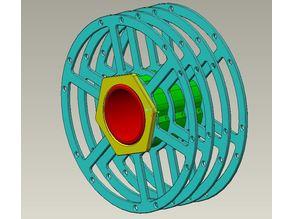 Multi material filament spool