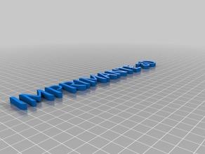 Imprimante 3D - Merienda
