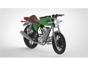 1:8 scaled Royal Enfield Continental GT