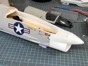 Freewing F8 Crusader nose