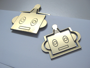 Robot Head Paper Clips