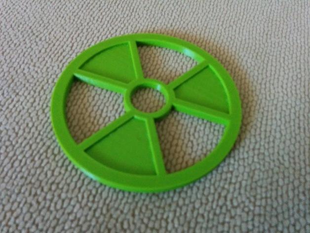 Radioactive symbol coaster by golygoon - Radioactive coasters ...