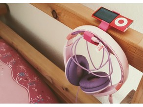 Ipod Headphone Bedside Holder