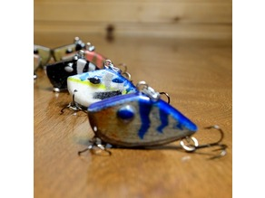 SMALL PANFISH LIPLESS CRANKBAIT 1.5 INCH WITH PAINT PATTERN FISHING LURE