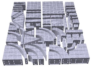 Openlock 2 inch Riser Floor Tiles set - Sci-Fi / Industrial Square Grill (1 inch grid)