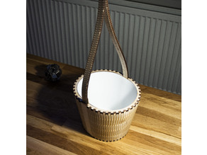 Hanging plant pot, laser cut