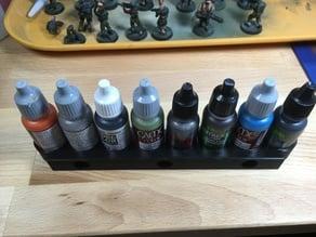 Magnet dropper bottle paint rack