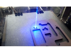 x-carriage + mount for 5500 mW Laser & e3d v6