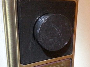 Light Dimmer knob and plate