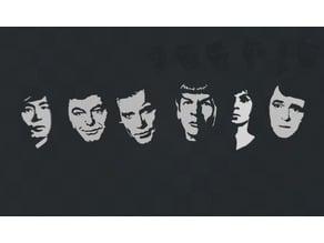 Star Trek Character Wall Art