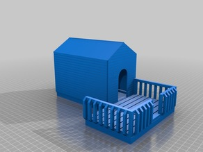 Buildable Dog House v3 (w/ porch and side paneling)
