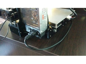 Anet A6 Power supply cover with small power socket and switch