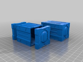 Modular SciFi Cargo Containers. (Multiple Ends, Connectable Container Bodies)