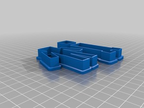 Minecraft Cookie Cutter Set (scaled foot fixed)