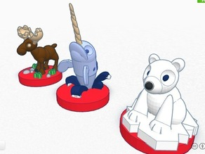 Canadian animals set for children  #Chess