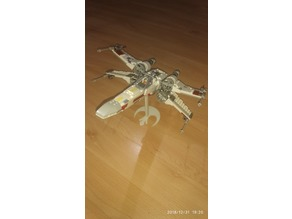 Lego X-Wing (9493) rebel stand easier print
