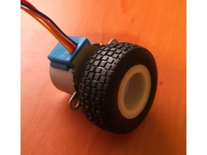 28BYJ-48 compatible rim for Tamiya Buggy Tyre