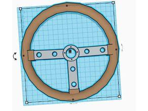 Old race steeringwheel