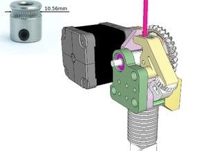 Dasaki Compact 1:3 Geared Extruder for Prusa i3 (MK7 drive gear)