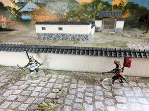 Japanese Samurai Stone Wall