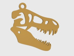 T-Rex Skull Pendant