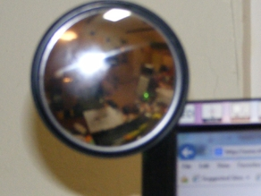 Cubicle rearview mirror